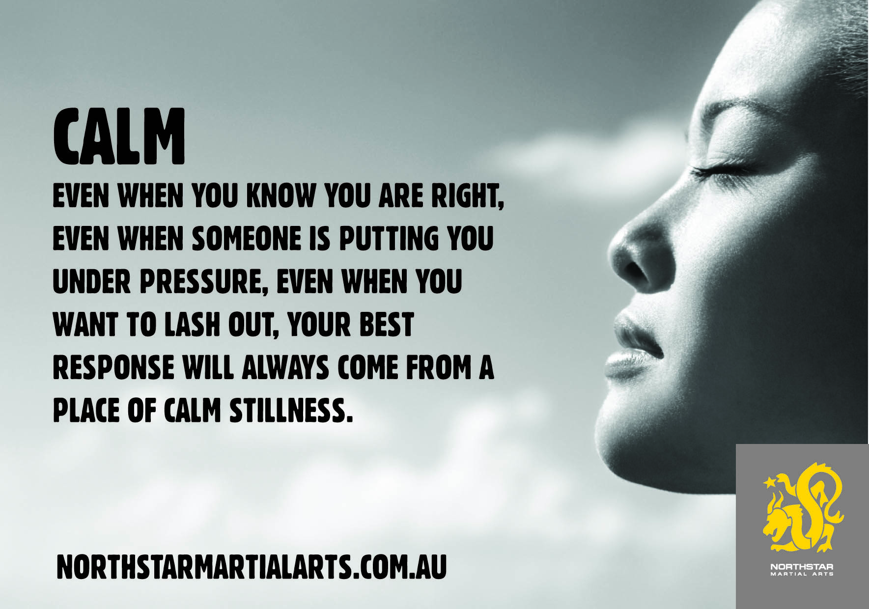 stillness and staying calm weststar martial arts